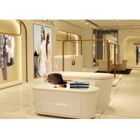 Beautiful White Color Retail Clothing Fixtures For Lady Clothing Display Manufactures