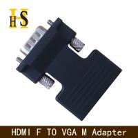 high quality hdmi female to vga male adapter with 3.5mm audio cable for projector hdmi f to vga m adapter Manufactures