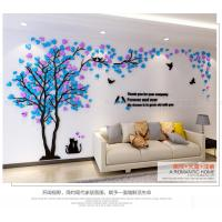 Quality Home decoration livingroom TV background 3d mirror acrylic material LOVERS tree for sale