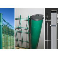 Security Welded Steel Wire Fencing / Triangle Bending Garden Mesh Fence Manufactures