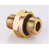 Quality Brass DIN Hydraulic Fittings , O - Ring Metric Pipe Thread Fittings for sale