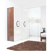 New Design Melamine Material Modern bedroom Custom wardrobe in fashion handle with Open door Manufactures