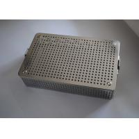 China Medical Stainless Steel Perforated Metal Sheet Sterilization Basket 38x30x5cm on sale