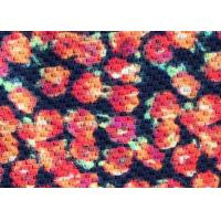 Contemporary Floral Viscose Rayon Fabric For Felt / Pillow / Sportswear Manufactures