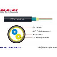 2 Fiber 4 Core Armored Fiber Optic Cable FTTA 4.8mm Customized ISO9001 Approval Manufactures