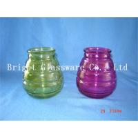China colorful glass candle jars, candle container,  candle holder sale on sale