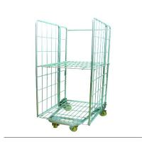 China Metal Cage Storage Roll Container,Folding Roll Trolley on sale