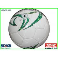 Synthetic Leather White Official Size Football Soccer Ball for Entertainment Manufactures