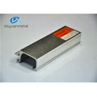 Alloy 6063-T5 Silver Sand Blasting Aluminium Extrusion Profile For Cabinet Decoration Manufactures