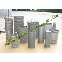 ALSI304-316 Stainless Steel Mesh Cup / Disc Filter / Industrial Filter Cartridge And Perforated Tube Manufactures