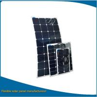 China 200w bendable solar panel, solar panel semi flexible for boat, golf car, camping on sale