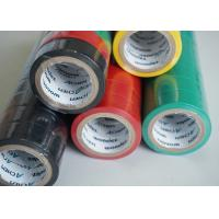 Matte Surface PVC Electrical Tapes Black Rubber Adhesion , Voltage breakdown 4KV Manufactures