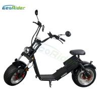 EcoRider EEC certificate 18 inch fat tire caiqiees citycoco with round lamp and mirrors Manufactures