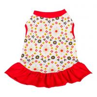red dog dresses summer / chinese dog clothes / dog party dresses Manufactures