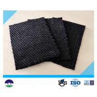 80 / 80kN Black Dewatering Woven Monofilament Geotextile High - Tenacity Manufactures