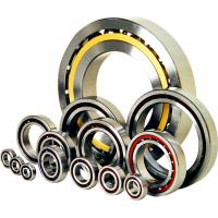 Nylon Cage Single Row Angular Contact Bearing , Air Compressor Stainless Steel Ball Bearings Manufactures