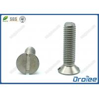 China 304/316 Stainless Steel Slotted Flat Head Machine Screw on sale