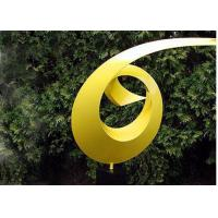 China Yellow Painted Metal Sculpture Dancing Ribbon Shape Various Size / Colors on sale