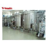 China Milk Pretreatment Pasteurized Milk Processing Line 10 Tons /D Up To 100 Tons /D on sale
