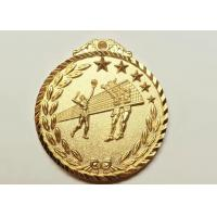 China Volleyball Sports Metal Award Medals , Casting Copper Material Custom Event Medals on sale