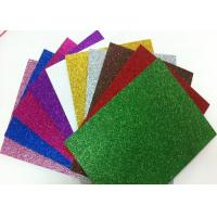 China 1.7mm Non - Toxic Die Cut Glitter EVA Foam Sheet For Craft And Kids DIY on sale