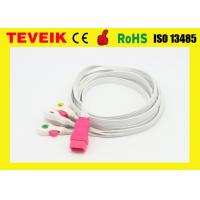 China Disposable 5 leads ECG cable / disposable ECG leadwire  with clip,IEC,6pin for all brand on sale