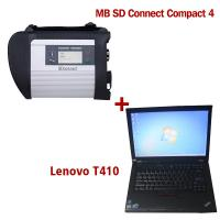 China 2018.5V Wireless MB SD C4 Mercedes Diagnostic Tool With I5 CPU 4G Memory Lenovo T410 on sale