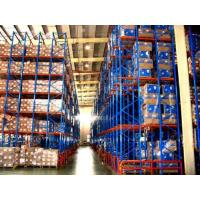 China Custom Steel 12m Drive-Through Pallet Racking , Automated Storage Racking System on sale