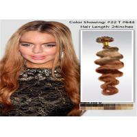 Natural Hair Line 3 Tone Ombre Hair Extensions No Tangle No Shedding Manufactures