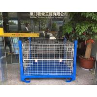 Welded Blue Wire Container Storage Cages Sturdy Wire Mesh Stillage Manufactures