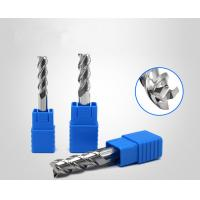 China Aluminium Copper Processing Spiral Carbide End Mill HRC55 3 Flute Long Cutting on sale