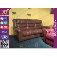 High Density Sponge Seat Back Home Theater Sofa ,Brown  Leather Electric Recliner Chair Manufactures