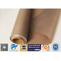0.15mm 300gsm Brown Heat Resistant PTFE Coated Fiberglass Cloth FDA Quality Manufactures