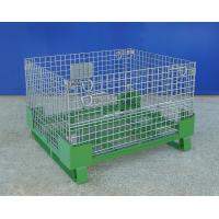 4 Layers Stackable Warehouse Wire Container Steel Mesh Cage CE Certificated Manufactures