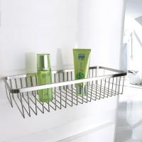Quality Chrome Layers Stainless Steel Bathroom Accessory Single Corner Shower Wire Basket for sale