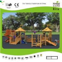 Outdoor Wooden Playground (KQ10156A) Manufactures