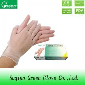 DINP Transparent Disposable Powder Free Vinyl Gloves , DOTP Vinyl Disposable Gloves Manufactures