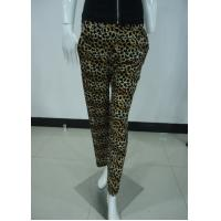 Leopard Print Women'S Fashion Leggings Ladies Velvet Trousers / Pants With Side Pockets Manufactures