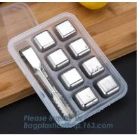 hot sale magic stainless steel metal whisky stone tubes for drinks, food grade chilling gel that freezes ice cube whisky Manufactures