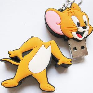 China Film Characters Cartoon USB Flash Drives, Tom and Jerry Soft PVC USB Memory Stick on sale
