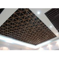 Imitation Wood Like Metal Grid Ceiling / Various Optional Wooden Color Available Manufactures