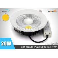 High Lumen Exterior 6 Small Recessed LED Downlights 20W For Commercial Manufactures