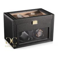 Carbon Fiber Watch Winder Battery Powered , Automatic Watch Winding Machine Manufactures