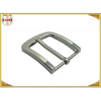 Simple Pin Style Custom Logo Engraved Metal Belt Buckle 40MM for Man Manufactures