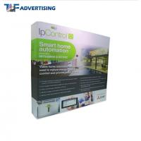 Custom Printed Trade Show Backdrop Displays , Portable Exhibition Displays Flame Resistant Manufactures