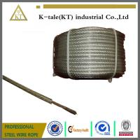 China 7x19 PVC coated steel wire rope steel wire on sale