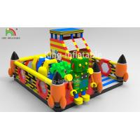 Children Inflatable Jumping Castle Robot Model With Slide 2 Year Warranty