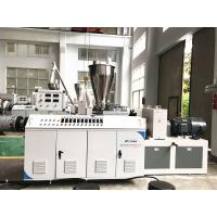 China High Capacity Plastic Profile Production Line , Pvc Pipe Manufacturing Machine on sale