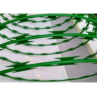 Custom Green Powder Coated Razor Wire Mesh BTO-22 For Razor Welded Fencing Manufactures