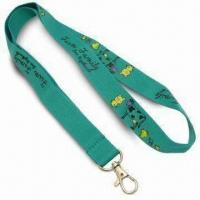 2cm Wide Promotional Polyester Lanyards, Suitable for Any Logo with Simple Hook Manufactures